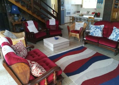 Seating arrangement inside the lounge area of the self catering house