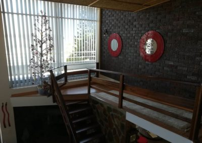 View of stairs from the second floor in the self catering house